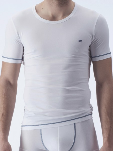 camel active Underwear 21: T-Shirt, weiß/denim