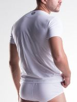 Unico Clasicos: V-Neck-Shirt, weiß