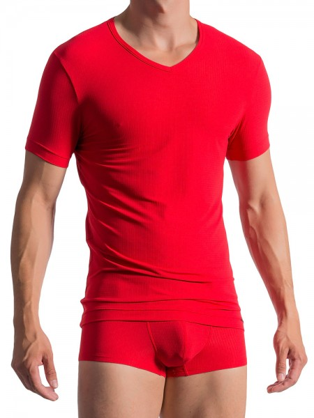 Olaf Benz RED1766: V-Neck-Shirt, mars