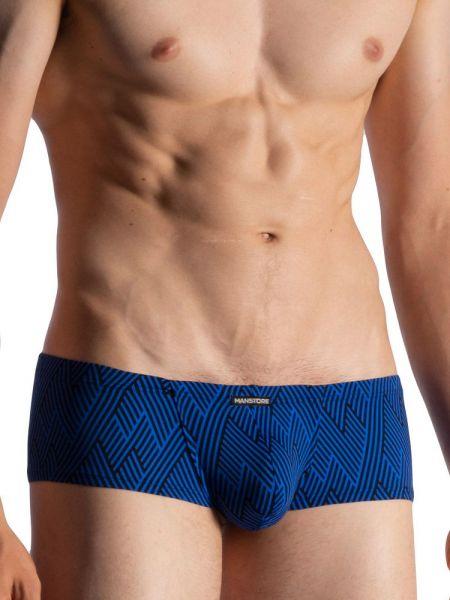 MANSTORE M800: Hot String Pant, blau/schwarz