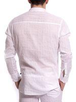 L'Homme Barbados: Loungeshirt, weiß