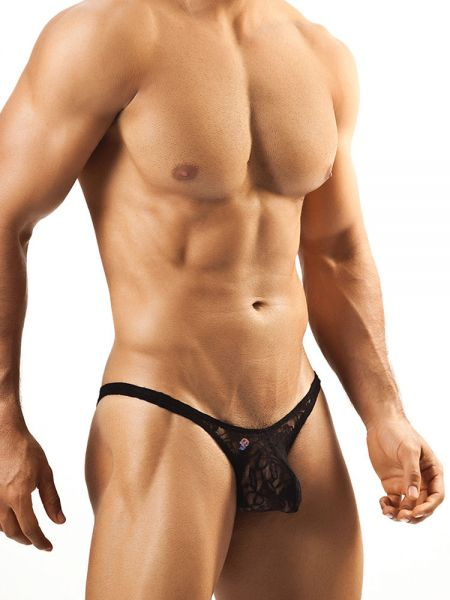 Joe Snyder Bulge01: Bikini Spitzen-Brief, schwarz