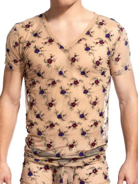 L'Homme La Nuit Fleurie: V-Neck-Shirt, haut