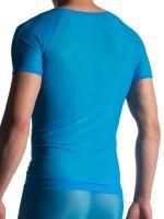 MANSTORE M904: V-Neck-Shirt, aqua