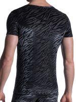 MANSTORE M2102: V-Neck-Shirt, schwarz