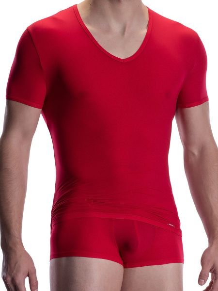 Olaf Benz RED0965: Phantom V-Neck-Shirt, lips