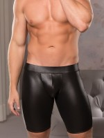 Allure: Wetlook-Boxerpant, schwarz