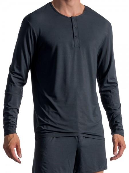 Olaf Benz PEARL1757: Buttonshirt, schwarz