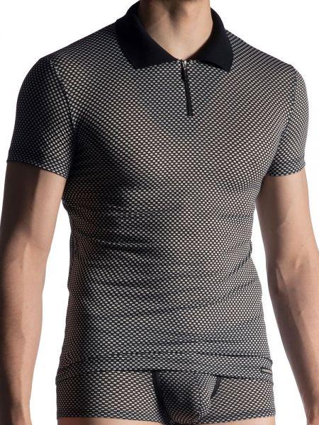 MANSTORE M913: Polo Shirt, schwarz/weiß