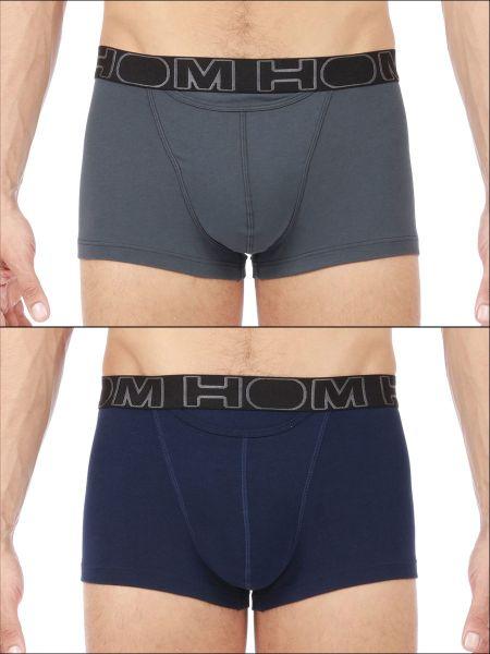 HOM HO1 Boxerlines: Boxer Pant 2er Pack, navy/grau