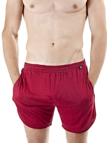L'Homme Go Easy: Split Shorts, rubinrot