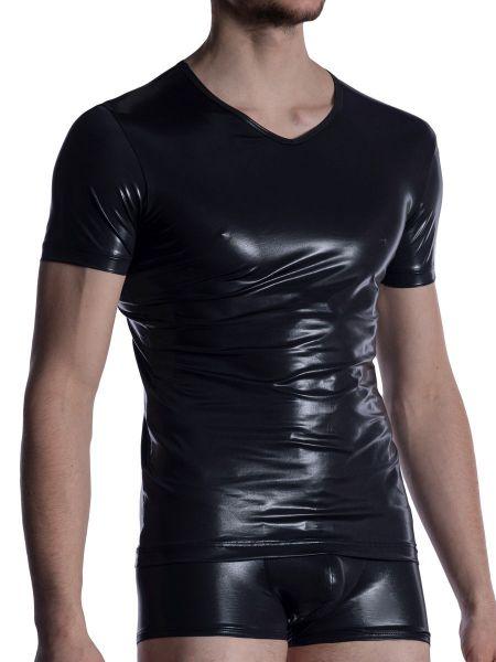 MANSTORE M2004: V-Neck-Shirt, schwarz