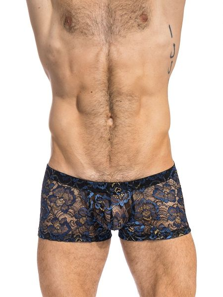 L'Homme Elysée: Push-Up Shorty, blau/schwarz