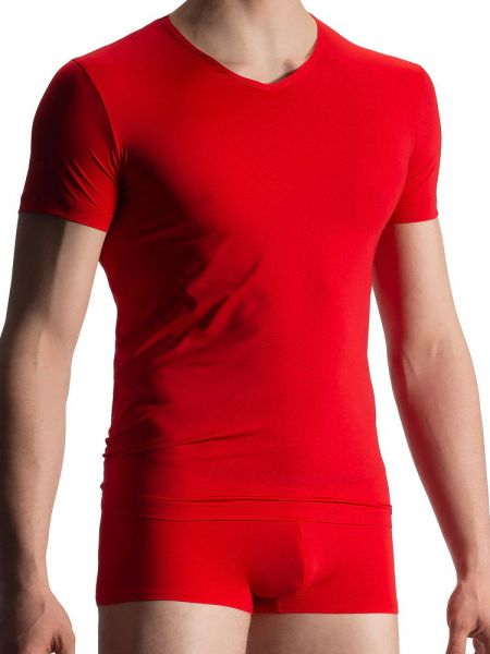 Olaf Benz RED1916: V-Neck-Shirt, rot