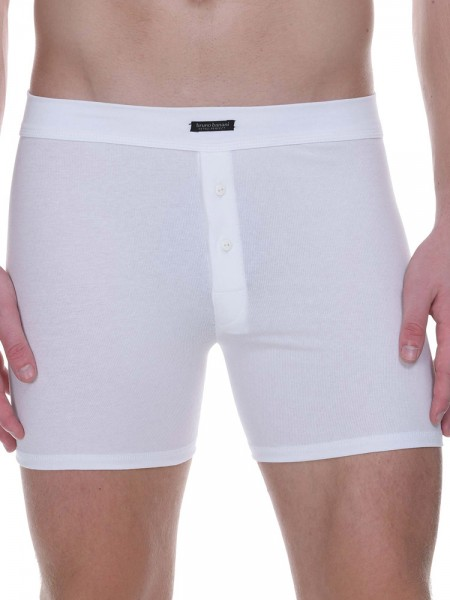 Bruno Banani Retro Perfect: Button Short, weiß