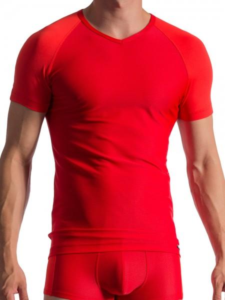Olaf Benz RED1764: V-Neck-Shirt, mars