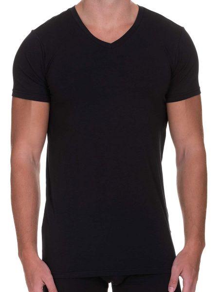 Bruno Banani Infinity: V-Neck-Shirt, schwarz