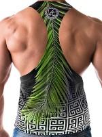 Danny Miami Voi Toi Palms: Tanktop, schwarz/grün