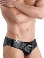 Eros Veneziani Nicolo: Wetlook-Brief, schwarz