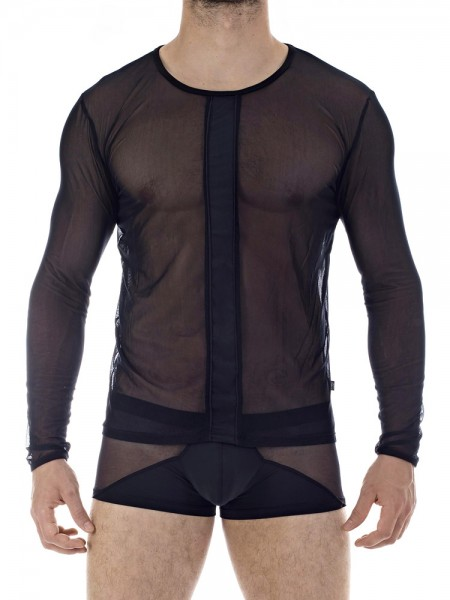 L'Homme Dark Depths: Longshirt, schwarz