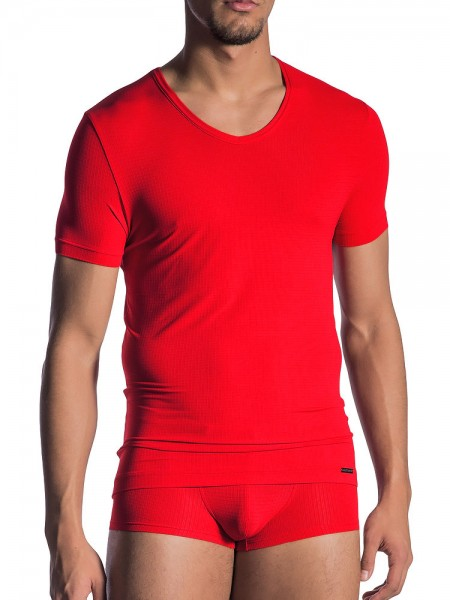 Olaf Benz RED1802: V-Neck-Shirt, rot