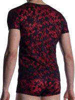 MANSTORE M2006: Casual T-Shirt, schwarz/rot