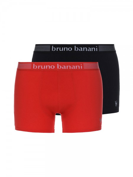 Bruno Banani Silver Edition: Short 2er Pack, schwarz/rot