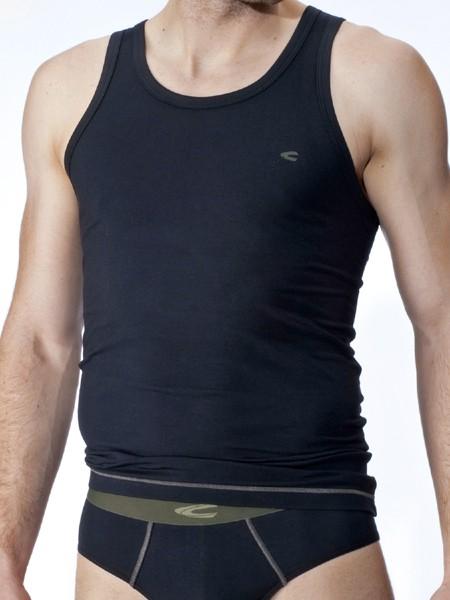 camel active Underwear 21: Sportshirt, schwarz/olive
