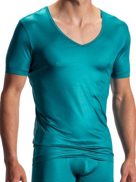 Olaf Benz RED1804: V-Neck-Shirt, petrol