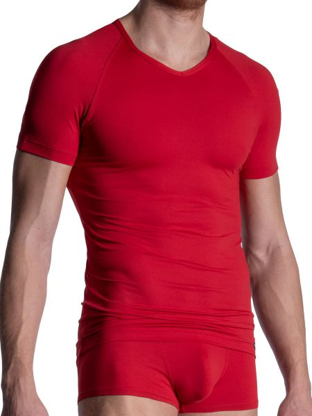 MANSTORE M800: V-Neck-Shirt, rosso