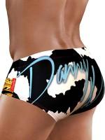 Danny Miami Wild Gold: Badebrief, schwarz/weiß
