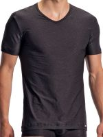 Olaf Benz RED1970: V-Neck-Shirt, schwarz