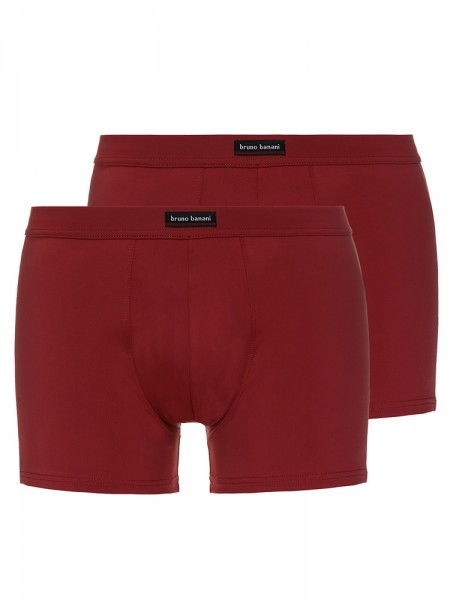 Bruno Banani Coloured Micro: Short 2er Pack, bordeaux