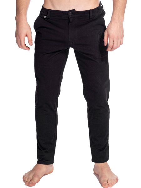 L'Homme Basel: Lounge Pant, schwarz