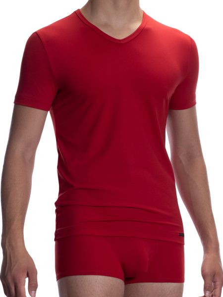 Olaf Benz RED2059: V-Neck-Shirt, rot