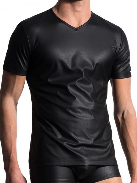 MANSTORE M104: V-Neck-Shirt, schwarz