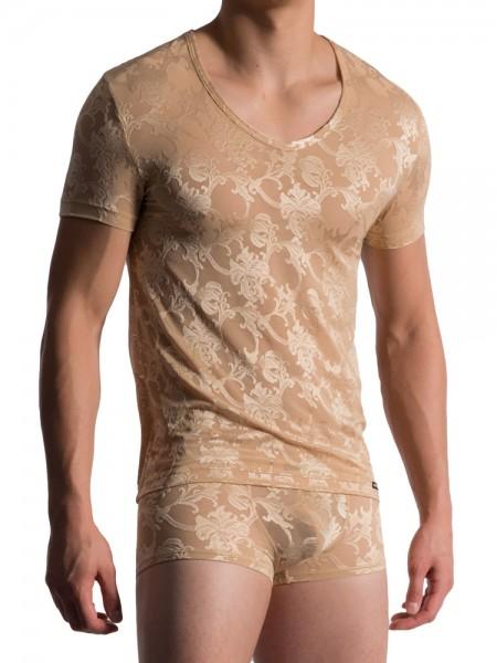 MANSTORE M759: V-Neck-Shirt, nude