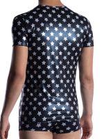 MANSTORE M2057: V-Neck-Shirt, stars