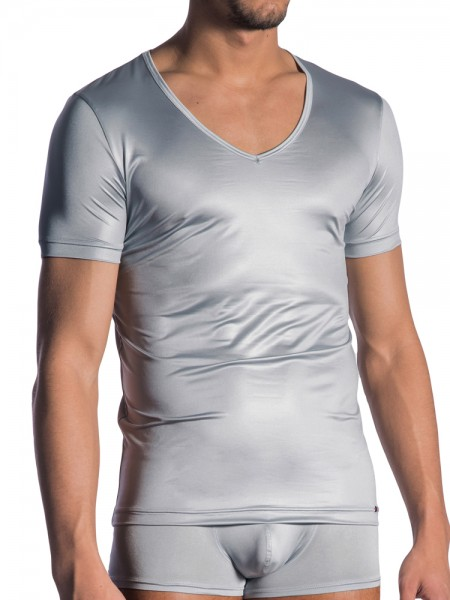 Olaf Benz RED1804: V-Neck-Shirt, silber
