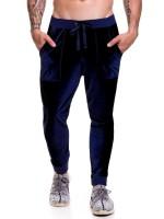 JOR Velvet: Long Pant, blau