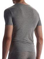 Olaf Benz RED1863: V-Neck-Shirt, grau