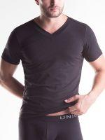 Unico Clasicos: V-Neck-Shirt, schwarz