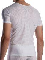 Olaf Benz RED1871: V-Neck-Shirt, weiß