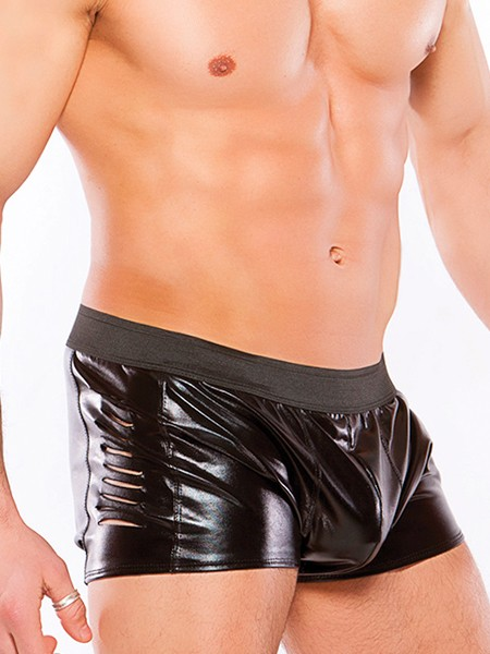 Zeus: Wetlook-Pant, schwarz