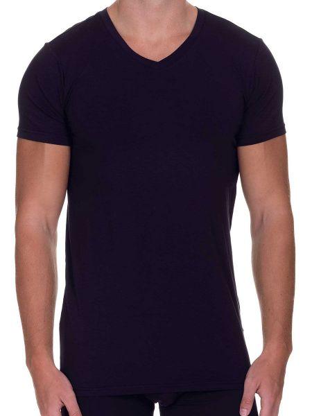 Bruno Banani Infinity: V-Neck-Shirt, dunkelblau