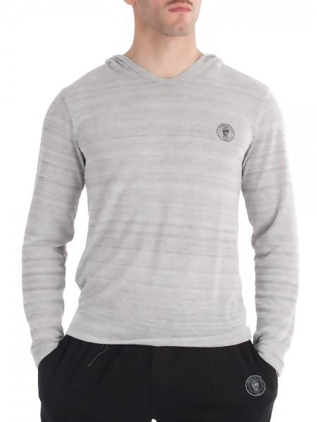 L'Homme Loungewear: Hoody, graumeliert