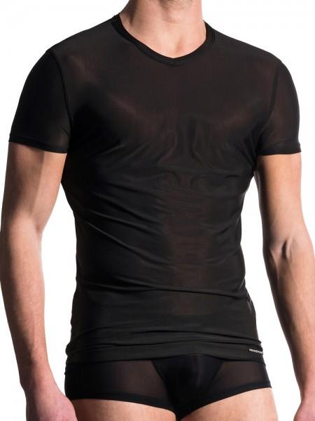 MANSTORE M101: V-Neck-Shirt, schwarz