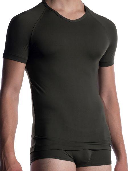 MANSTORE M800: V-Neck-Shirt, olive