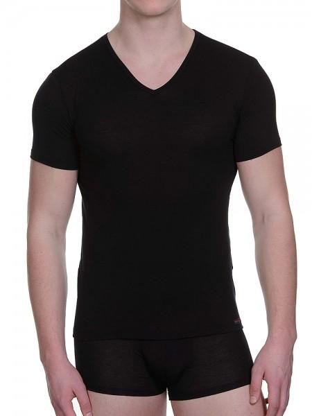 Bruno Banani Earl: V-Neck-Shirt, schwarz