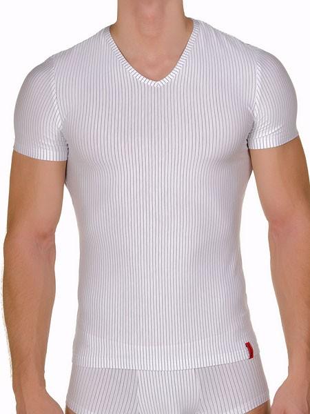 Bruno Banani Straight Line: V-Shirt, weiß/schwarz